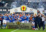 22.05.2021 Scottish Cup Final, St Johnstone v Hibs: Jason Kerr lifts the cup