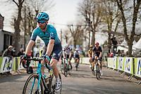 Hugo Houle (CAN/Astana-Premier Tech) post-race atop the infamous Mur de Huy<br /> <br /> 85th La Flèche Wallonne 2021 (1.UWT)<br /> 1 day race from Charleroi to the Mur de Huy (BEL): 194km<br /> <br /> ©kramon