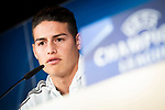 Bayern Múnich James Rodriguez during press conference day before UEFA Champions League semi finals match between Real Madrid and Bayern Múnich at Santiago Bernabeu Stadium in Madrid, Spain. April 30, 2018. (ALTERPHOTOS/Borja B.Hojas)
