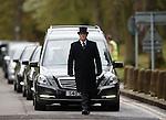 Sandy Jardine's funeral cortege approaches Mortonhall Crematorium