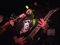 Guitarist Damien Tserlentakis has clearly lost his mind as Shifter performs during a pre-halloween show at Chilkoot Charlie's.