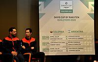 BOGOTA-COLOMBIA, 04-03-2020: Sorteo de los enfrentamientos para Las clasificatorias Copa Davis by Rakuten 2020 entre Colombia y Argentina en marzo 6 y 7 de 2020. / Draw for clashes of the Davis Cup by Rakuten 2020 qualifiers between Colombia and Argentina on March 6 and 7, 2020. / Photo: VizzorImage / Luis Ramirez / Staff.