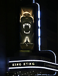 """Theatre Marquee for the Broadway Opening Night performance of """"King Kong - Alive On Broadway"""" at the Broadway Theater on November 8, 2018 in New York City."""