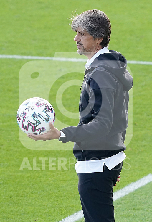 First official match and first classic in the history of women's Real Madrid.<br /> Real Madrid's coach David Aznar during Spanish Female League match. October 4,2020. (ALTERPHOTOS/Acero)