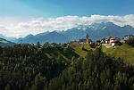 Austria, Tyrol, Innsbruck Holiday Village Ellboegen - district St. Peter | Oesterreich, Tirol, Innsbrucks Feriendorf Ellboegen - Ortsteil St. Peter, suedlich von Innsbruck, an der oestlichen Talseite des Wipptals gelegen