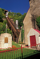 AJ2941, Quebec City, funicular, funiculaire, Quebec, Canada, Funiculaire (a steep cable railway) at Quartier Petit-Champlain in Quebec City in the Province of Quebec, Canada.