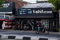 Yogyakarta, Java, Indonesia.  Clothing Store,  Jl. Laksda Adisucipto Street.