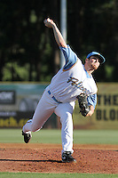 Myrtle Beach Pelicans pitcher Alec Asher #28 during the first game of a doubleheader against the Wilmington Blue Rocks at Ticketreturn.com Field at Pelicans Ballpark on May 25, 2013 in Myrtle Beach, South Carolina. Wilmington defeated Myrtle Beach 8-3. (Robert Gurganus/Four Seam Images)