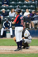 June 1, 2008: Tacoma Rainiers' Oswaldo Navarro at-bat during at Pacific Coast League game against the Salt Lake Bees at Cheney Stadium in Tacoma, Washington.