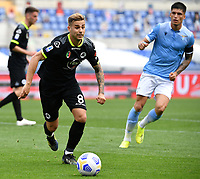 Football, Serie A: S.S. Lazio - Spezia, Olympic stadium, Rome, April 3, 2021. <br /> Spezia's Matteo Ricci (l) in action during the Italian Serie A football match between S.S. Lazio and Spezia at Rome's Olympic stadium, Rome, on April 3, 2021.  <br /> UPDATE IMAGES PRESS/Isabella Bonotto