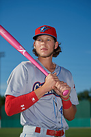 Clearwater Threshers Alec Bohm (40) poses for a photo before a Florida State League game against the Dunedin Blue Jays on May 11, 2019 at Jack Russell Memorial Stadium in Clearwater, Florida.  Clearwater defeated Dunedin 9-3.  (Mike Janes/Four Seam Images)
