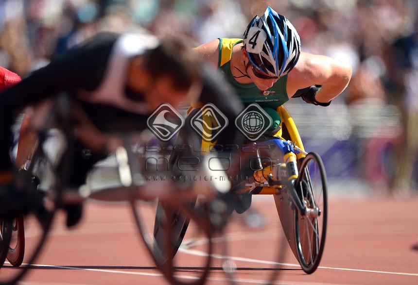 Richard Colman (AUS)<br /> Athletics : Men's 200m T-53<br /> Olympic Stadium (Friday 7 Sept)<br /> Paralympics - Summer / London 2012<br /> London England 29 Aug - 9 Sept <br /> © Sport the library / Jeff Crow