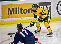 8 February 2020: University of Vermont Catamount Defender Anna Erickson, a Junior from Stillwater, MN, in third period action against the University of Connecticut Huskies at Gutterson Fieldhouse in Burlington, Vermont. The Huskies defeated the Lady Cats 4-2 in the first game of their weekend Hockey East series. Mandatory Credit: Ed Wolfstein Photo *** RAW (NEF) Image File Available ***