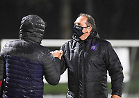 Anderlecht head coach Patrick Wachel pictured during a female soccer game between Sporting Charleroi and RSC Anderlecht on the third matchday of the 2020 - 2021 season of Belgian Scooore Womens Super League , friday 2 nd of October 2020  in Marcinelle , Belgium . PHOTO SPORTPIX.BE | SPP | DAVID CATRY