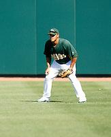 Javier Herrera - Oakland Athletics - 2009 spring training.Photo by:  Bill Mitchell/Four Seam Images