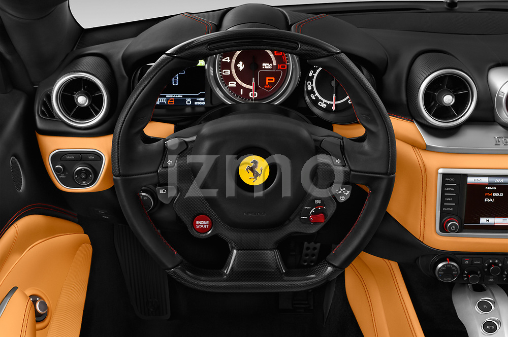 Car pictures of steering wheel view of a 2017 Ferrari California-T 2 Door Convertible Steering Wheel