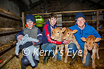 Eoghan O'Connor from Emlaghpeste, Portmagee (right) with l-r; Paddy Jnr & nephews Darragh & Kevin O'Connor with the triplets from his Charolais cow of 10 years.