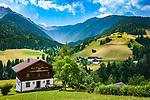 Oesterreich, Kaernten, Lesachtal, Maria Luggau: Blick ins Lesachtal Richtung Westen| Austria, Carinthia, Lesach Valley, Maria Luggau: view into Lesach Valley westwards