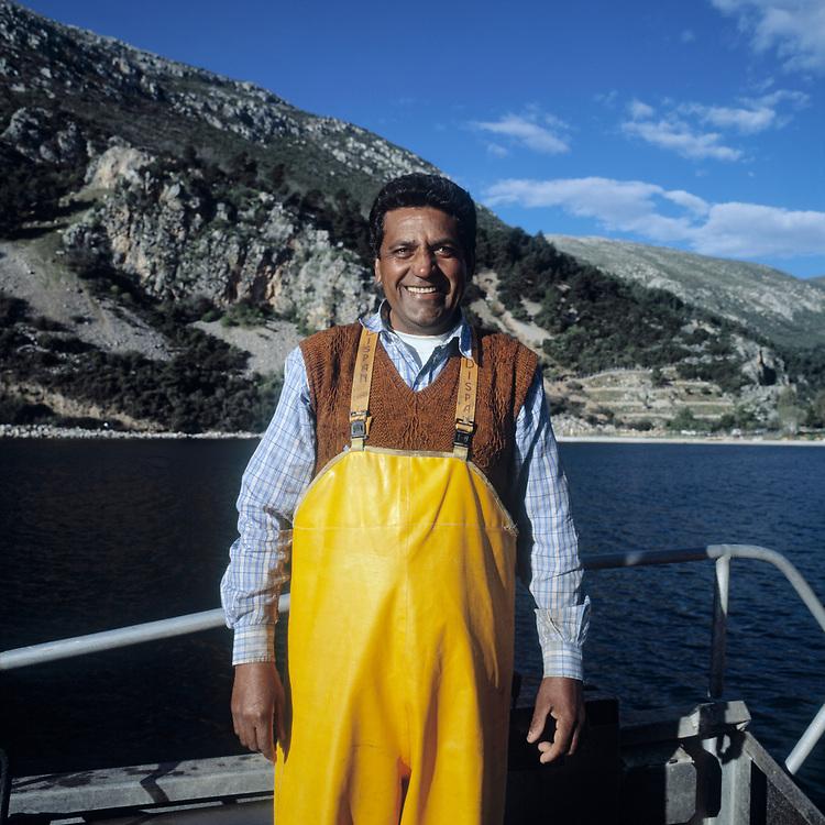 © 2021 John Angerson.<br /> Prem Singh, sea bream fishing,Saronikos, Greece.