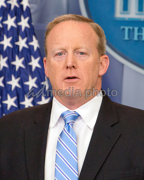 White House Press Secretary Sean Spicer conducts his daily press briefing in the Brady Press room of the White House in Washington, DC on Monday, June 26, 2017. Photo Credit: Ron Sachs/CNP/AdMedia
