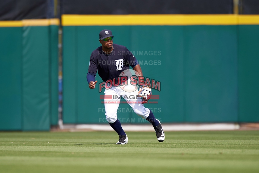 Detroit Tigers center fielder Wynton Bernard (63) during an exhibition game against the Florida Southern Moccasins on February 29, 2016 at Joker Marchant Stadium in Lakeland, Florida.  Detroit defeated Florida Southern 7-2.  (Mike Janes/Four Seam Images)