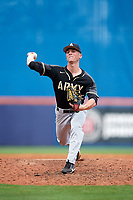 Army West Point relief pitcher Joe Santoro (29) delivers a pitch during a game against the Michigan Wolverines on February 18, 2018 at First Data Field in St. Lucie, Florida.  Michigan defeated Army 7-3.  (Mike Janes/Four Seam Images)
