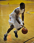 13 December 2008: Albany's Jerel Hastings looks to advance the ball in a game between Canisius and Albany won by Albany 74-46 at SEFCU Arena in Albany, New York.