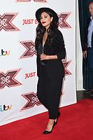 "Nicole Scherzinger<br /> arrives for the ""X Factor"" 2017 series launch at the Picturehouse Central, London. <br /> <br /> <br /> ©Ash Knotek  D3301  30/08/2017"