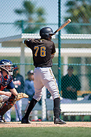 Pittsburgh Pirates Oneil Cruz (76) during a minor league Spring Training game against the Atlanta Braves on March 13, 2018 at Pirate City in Bradenton, Florida.  (Mike Janes/Four Seam Images)