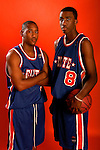Austin Freeman (3) and Donte Greene (8) on August 31, 2006 in New York, New York.  Freeman attends DeMatha High School and will play for Georgetown in the fall of 2007.  Greene attends Towson Catholic and will play for Syracuse in the fall of 2007.  The players were in town for the Elite 24 Hoops Classic, which brought together the top 24 high school basketball players in the country regardless of class or sneaker affiliation.