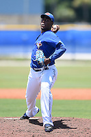 GCL Blue Jays pitcher Francis Eduardo (30) delivers a pitch during a game against the GCL Yankees 2 on July 2, 2014 at the Bobby Mattick Complex in Dunedin, Florida.  GCL Yankees 2 defeated GCL Blue Jays 9-6.  (Mike Janes/Four Seam Images)