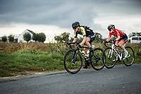 Jessica Allen (AUS/Mitchelton-Scott) and Noemi Rüegg (SUI/Cogeas Mettler Look)<br /> <br /> <br /> 17th Ronde van Vlaanderen 2020<br /> Elite Womens Race (1.WWT)<br /> <br /> One Day Race from Oudenaarde to Oudenaarde 136km<br /> <br /> ©kramon