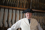 The Magazine at Colonial Williamsburg, Virginia houses hundreds of colonial-style firearms.