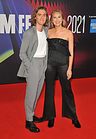 """Jack Farthing and Hanako Footman at the 65th BFI London Film Festival """"Spencer"""" Headline gala, Royal Festival Hall, Belvedere Road, on Thursday 07th October 2021, in London, England, UK. <br /> CAP/CAN<br /> ©CAN/Capital Pictures"""