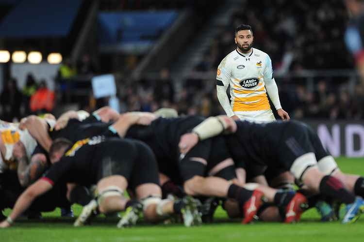 Lima Sopoaga of Wasps looks on during Big Game 11, the Gallagher Premiership Rugby match between Harlequins and Wasps, at Twickenham Stadium on Saturday 29th December 2018 (Photo by Rob Munro/Stewart Communications)