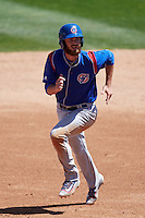 South Bend Cubs first baseman Matt Rose (17) running the bases during a game against the Lake County Captains on July 27, 2016 at Classic Park in Eastlake, Ohio.  Lake County defeated South Bend 5-4.  (Mike Janes/Four Seam Images)