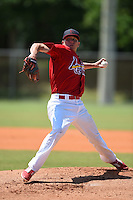 St. Louis Cardinals pitcher Corey Littrell (33) during a minor league spring training game against the Miami Marlins on March 31, 2015 at the Roger Dean Complex in Jupiter, Florida.  (Mike Janes/Four Seam Images)