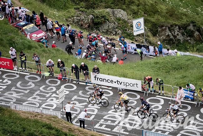 yellow jersey / GC leader Tadej Pogacar (SVN/UAE-together with; Richard Carapaz (ECU/INEOS Grenadiers), Jonas Vingegaard (DEN/Jumbo-Visma),  Sepp Kuss (USA/Jumbo-Visma) & Enric Mas (ESP/Movistar)<br /> <br /> Stage 18 from Pau to Luz Ardiden (130km)<br /> 108th Tour de France 2021 (2.UWT)<br /> <br /> ©kramon