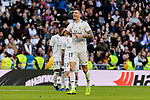 Real Madrid's Javi Sanchez celebrates goal during Copa del Rey match between Real Madrid and UD Melilla at Santiago Bernabeu Stadium in Madrid, Spain. December 06, 2018. (ALTERPHOTOS/A. Perez Meca)