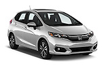 2018 Honda Fit Ex 5 Door Hatchback angular front stock photos of front three quarter view