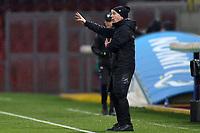Gian Piero Gasperini coach of Atalanta BC gestures during the Serie A football match between Benevento Calcio and Atalanta BC at stadio Ciro Vigorito in Benevento (Italy), January 09, 2021. <br /> Photo Cesare Purini / Insidefoto