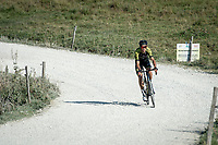 Jack Bauer (NZL/Mitchelton-Scott) at the gravel section atop the Montée du plateau des Glières (HC/1390m)<br /> <br /> Stage 18 from Méribel to La Roche-sur-Foron (175km)<br /> <br /> 107th Tour de France 2020 (2.UWT)<br /> (the 'postponed edition' held in september)<br /> <br /> ©kramon