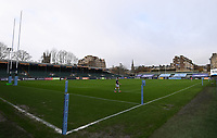 21st November 2020; Recreation Ground, Bath, Somerset, England; English Premiership Rugby, Bath versus Newcastle Falcons; General view of The Rec before kick off empty due to the pandemic