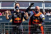 5th September 2021: Circuit Zandvoort, Zandvoort, Netherlands;  Formula 1 Dutch Grand Prix at the CM.com Circuit Zandvoort, Race engineers of Max Verstappen celebrating his win with the crowd Formula 1 Dutch Grand Prix