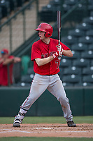 AZL Angels catcher David Clawson (7) at bat during the completion of a suspended Arizona League game against the AZL Diamondbacks at Tempe Diablo Stadium on July 16, 2018 in Tempe, Arizona. The game was a continuation of the July 11, 2018 contest that was suspended by rain in the middle of the eighth inning. The AZL Diamondbacks defeated the AZL Angels 12-8. (Zachary Lucy/Four Seam Images)