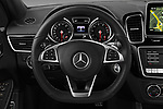 Car pictures of steering wheel view of a 2016 Mercedes Benz GLE-Class-Coupe GLE450-AMG 5 Door SUV Steering Wheel