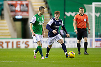 15th November 2020; Easter Road, Edinburgh, Scotland; Scottish League Cup Football, Hibernian versus Dundee FC; Jamie Murphy of Hibernian taken on by Finlay Robertson of Dundee