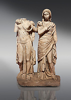 Roman statue of two women; Marble. Perge. 2nd century AD. Inv 3271. Antalya Archaeology Museum; Turkey.