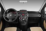 Straight dashboard view of a 2009 Fiat Panda 5 Door 4x4.