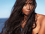 Young woman with wet long hair at the beach, artistic beauty portrait Image © MaximImages, License at https://www.maximimages.com